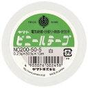 (業務用セット) ヤマト ビニールテープ 幅50mm×長10m NO200-50-5 白 1巻入 【×10セット】