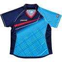 ヤマト卓球 VICTAS(ヴィクタス) 卓球アパレル V-LS037 Viscotecs ゲームシャツ(女子用) 031460 ブルー Mサイズ