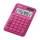 (まとめ)カシオ カラフル電卓 ミニジャストタイプ12桁 ビビッドピンク MW-C20C-RD-N 1台【×5セット】
