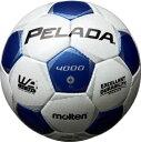 モルテン molten サッカー ペレーダ4000 土用 4号球 F4P4000-WB WBシャンパンシルバー×メタリックブルー 検定球