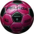 モルテン molten サッカー ペレーダ4000 土用 4号球 F4P4000-PK PKマジェンタピンク×メタリックブラック 検定球