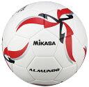 【ネーム加工可】ミカサ MIKASA サッカーボール 5号球 ALMUNDO レッド 一般 大学 高校 中学用 貼り 人工皮革 ブチルチューブ 検定球 F500KB-R