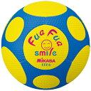 樂天商城 - ミカサ MIKASA ふぁふぁスマイルボール 4号 FFF4-YB 黄×青 サッカーボール やわらかい素材を使用しているので当たっても痛くない!