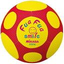 樂天商城 - ミカサ MIKASA ふぁふぁスマイルボール 4号 FFF4-YR 黄×赤 サッカーボール やわらかい素材を使用しているので当たっても痛くない!