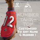 クーポン付き♪ 名入れ メッシュタンク #2:ビッグナンバータンクトップ 【名前入れ 名前入り 犬 服 イタグレ服 イタリアングレーハウンド服 】【メール便 送料無料 】