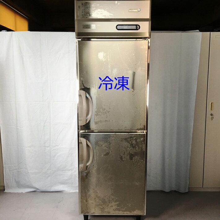 中古厨房機器福島工業業務用タテ型冷凍・冷蔵庫2013年製幅610mmスリムタイプ幅610×奥650×