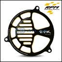 RPM ダブルアルマイト アルミスリットファンカバー ブラック/ゴールド 【CYGNUS X】【シグナスX】【BW`S】【BW`S X】【BW`S R】【GTR125】