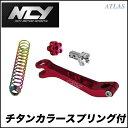 NCY シグナス用 ロングブレーキアーム チタンカラースプリング付 レッド その他 BW'S GTRにも使用可能