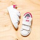 adidas Originals STAN SMITH CF I (アディダス オリジナルス スタンスミス コンフォート) Running White/Running White/Bold Pink【キッズ スニーカー】16FW-I