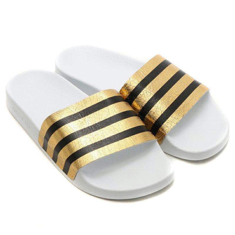 adidas Originals ADILETTE W(アディダス オリジナルス アディレッタ) Gold Mett/Running White/Running White【レディース】【サンダル】16SS-I