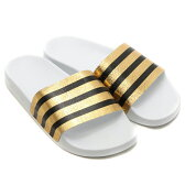 スーパーセール期間限定☆店内全品対象!ポイント最大20倍!adidas Originals ADILETTE W(アディダス オリジナルス アディレッタ) Gold Mett/Running White/Running White【レディース】【サンダル】16SS-I