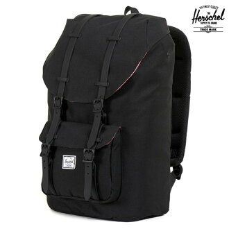 Herschel Supply LITTLE AMERICA BLACK/BLACK RUBBER