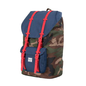 Herschel Supply LITTLE AMERICA WOODLAND CAMO/NAVY/RED RUBBER