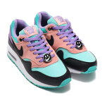 NIKE AIR MAX 1 NK DAY (GS) (ナイキ エア マックス 1 NK DAY GS)BLACK/WHITE-SPACE PURPLE-BLEACHED CORAL19SP-S
