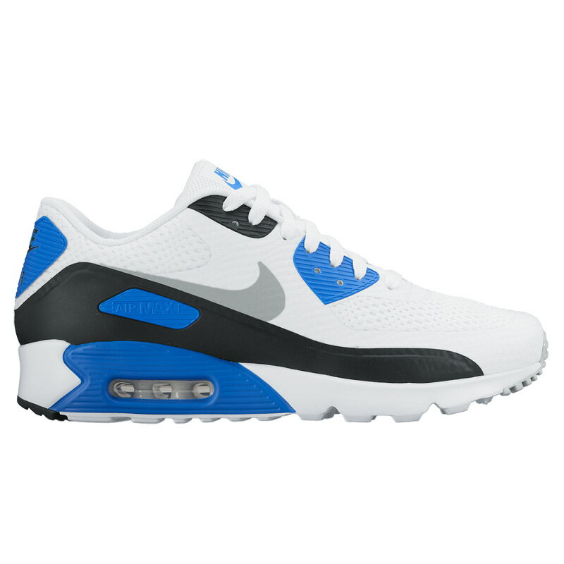 NIKE AIR MAX 90 ULTRA ESSENTIAL (Nike Air Max 90 ultra essential) WHITE/NEUTRAL GREY-LASER BLUE/BLACK 16SU-I