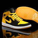 "NIKE AIR JORDAN 1 MID ""New Love""(ナイキ エア ジョーダン 1 ミッド)(BLACK/VARSITY MAIZE-WHITE)【..."