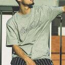 CHAMPION x ATMOS LAB BIG LOGO T-SHIRT(チャンピオン x アトモスラボ ビッグ ロゴ ティーシャツ)オックスフォードグレー メンズ Tシャツ 18FW-I