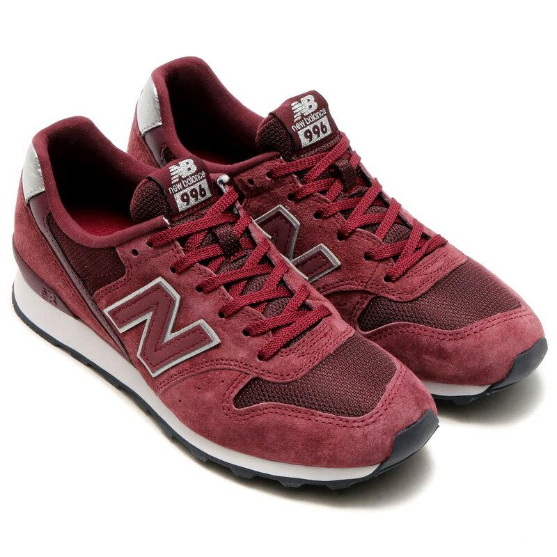 new balance 996 burgundy & gold trainers