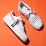 NIKE AIR FORCE 1 '07 LV8 JDI LNTC(ナイキ エア フォース 1 07 LV8 JDI LNTC)WHITE/WHITE-BLACK-TOTAL ORANGE18FA-I