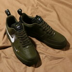 NIKE AIR FORCE 1 '07 LV8 UTILITY(ナイキ エア フォース 1 07 LV8 ユ−ティリティ)OLIVE CANVAS/WHITE-BLACK-TOUR YELLOW18HO-I
