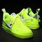 NIKE AIR FORCE 1 '07 LV8 UTILITY (ナイキ エア フォース 1 07 LV8 ユ−ティリティ)VOLT/WHITE-BLACK-WOLF GREY18HO-I