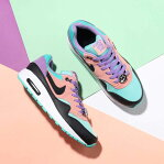 NIKE AIR MAX 1 NK DAY (GS) (ナイキ エア マックス 1 NK DAY GS)BLACK/WHITE-SPACE PURPLE-BLEACHED CORAL19SP-I