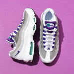 NIKE AIR MAX 95 LV8(ナイキ エア マックス 95 LV8)WHITE/COURT PURPLE-EMERALD GREEN19FA-S