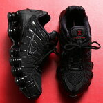 NIKE W SHOX TL(ナイキ ウィメンズ ショックス TL)BLACK/BLACK-MTLC HEMATITE-MAX ORANGE19FA-I