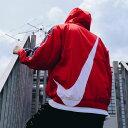 NIKE AS M NSW SWOOSH JKT WVN(ナイキ スウッシュ ウーブン ジャケット)UNIVERSITY RED WHITE OBSIDIAN WHITE メンズ ジャケット 19FA-S