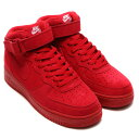 NIKE AIR FORCE 1 MID '07 (ナイキ エア フォース 1 ミッド 07) GYM RED/GYM RED-WHITE【メンズ レディース ...