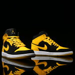 NIKE AIR JORDAN 1 MID(ナイキ エア ジョーダン 1 ミッド)BLACK/VARSITY MAIZE-WHITE17S...
