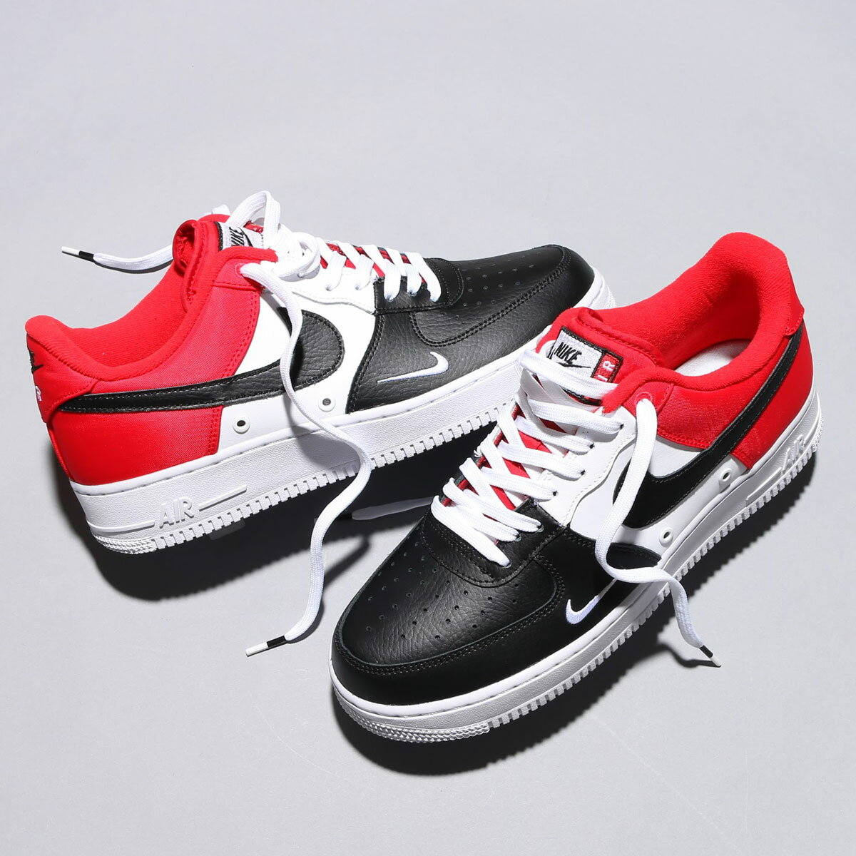 NIKE AIR FORCE 1 '07 LV8(ナイキ エア フォース 1 07 LV8)UNIVERSITY RED/BLACK-WHITE-PURE PL...