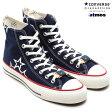 ショッピングデザイン CONVERSE×Ojaga Design×atmos ALL STAR J HI(コンバース×オジャガ デザイン×アトモス オール スター J ハイ)NAVY14SS-S