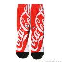 Coca-Cola by UBIQ BIG LOGO SOCKS(е│елбже│б╝ещ е╨ед ецб╝е╙е├еп е╙е├е░еэе┤ е╜е├епе╣)REDб┌есеєе║ ╖д▓╝б█17FW-S