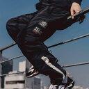 ショッピングアンブロ UMBRO FULL-BK & ATMOS BREAKER PANTS(アンブロ フルビーケー アンド アトモス ブレーカー パンツ)ブラック【メンズ ロングパンツ】19FA-S