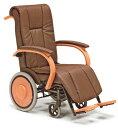 周りのインテリアに調和して、安心の抗菌仕様木製車椅子 介助式 PZ028