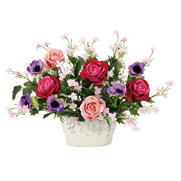 光触媒観葉植物花フラワーアレンジメント人工観葉植物アレンジメンドフラワーフラワーバラローズピンク母の