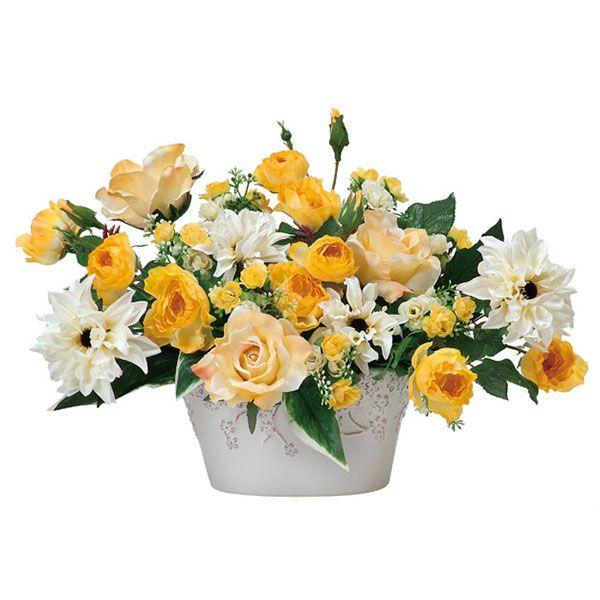 光触媒観葉植物花フラワーアレンジメント人工観葉植物アレンジメンドフラワーフラワー母の日バラローズイエ