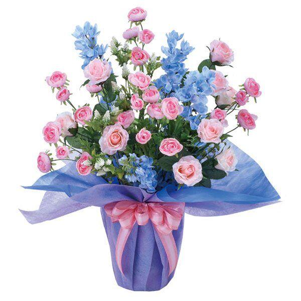 光触媒観葉植物花フラワーアレンジメント人工観葉植物アレンジメンドフラワーフラワー母の日薔薇ローズバラ