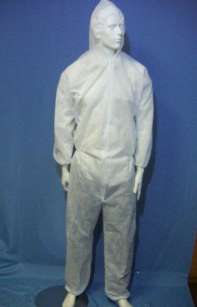 ディスポ不織布ウェア(フード゛付つなぎ服): 帯電防止加工タイプ