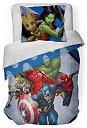 【中古】【輸入品・未使用未開封】Marvel 's Avengers ' Fight Club ' 2?Piece Twin/Full Comforter andシャムセット、Kid 's寝具