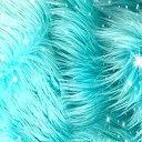【中古】【輸入品・未使用未開封】Bianna Creations フェイクファー ピース、スクエア長方形スウォッチ、豪華なシャギー生地、DIYクラフトファー(アルバブルー、20 x 30インチ)