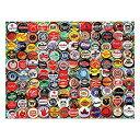 """【中古】【輸入品・未使用未開封】Jigsaw Puzzle 550 Pieces 18""""X24""""-Beer Bottle Caps"""