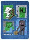 【中古】【輸入品・未使用未開封】Jay Franco Minecraft Icons スローブランケット - サイズ 46 x 60インチ、子供用寝具 クリーパー、..