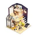 【中古】【輸入品・未使用未開封】Flever Dollhouse Miniature DIY House Kit Creative Room With Furniture and Cover for Romantic V..