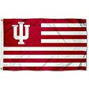 インディアナ州IU Hoosiers Alumni Nationストライプフラグ
