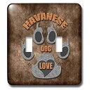 【中古】【輸入品・未使用未開封】3drose LLC lsp _ 22076?_ 2ハバニーズLove Dog Breedでグレーとブラウンダブル切り替えスイッチ