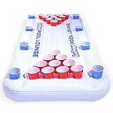 【中古】【輸入品・未使用未開封】GoPong Pool Lounge Floating Beer Pong Table Inflatable with Social Floating [並行輸入品]