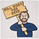 【中古】【輸入品・未使用未開封】3dRose Funny Humorous Man Guy with a Sign Will Work for Beer Mouse Pad (mp_117022_1) [並行輸入..