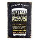 【中古】【輸入品・未使用未開封】dingleiever-The Beer Prayer Vintage Metal Tin Sign Retro Wall Decorations for Bedroom [並行輸..